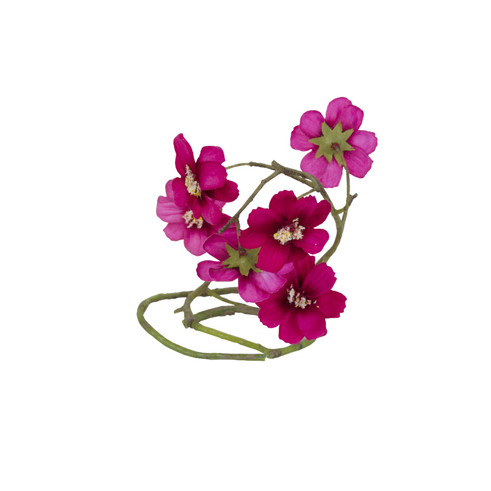 Scented Bouquet Accessory Garland Of Dark Pink Flowers